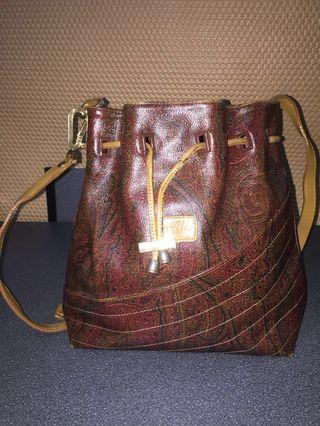 Authentic Vintage ETRO Milano Bucket Sling Bag
