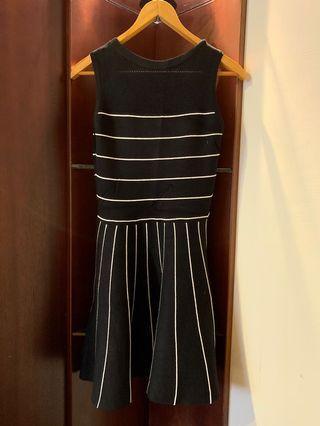 🚚 《二手》條紋無袖針織洋裝