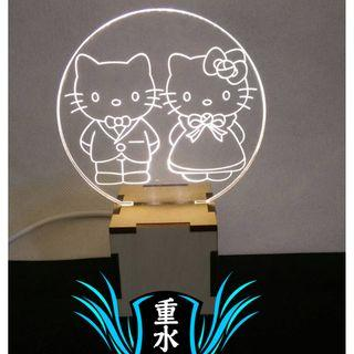 KK貓 最有錢的貓 哆啦A夢 木製 小夜燈