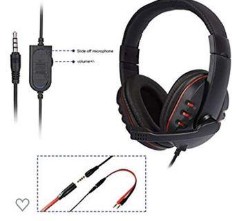 (3484) Gaming Headset for PS4 New Xbox One - Etpark 3.5mm Wired Over-Head Stereo Gaming Headset Headphone with Mic Microphone, Volume Control for Sony PS4 PC Tablet Laptop Smartphone Xbox One