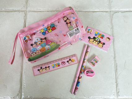 🚚 Tsum Tsum Pencil Case with Stationary