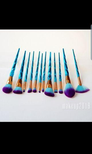 Unicorn Brushes blue and purple 12 PIECES