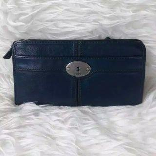Fossil  maddox zipper navy