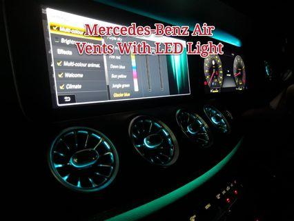 Benz OEM Air Vents with Multi Color Led Lights (For A, E, C, GLA, GLC)