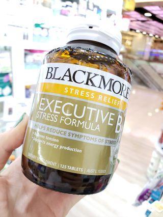 Blackmores Executive B 複合維生素125粒 👏抗疲勞營養片屬於水溶性維生素,具有代謝快,已流失的特點,故需每天補充,🎀B族的維生素之間有協同作用,用來減輕由於繁忙生活所造成的壓力和緊張。該產品裏的活性成份已被臨牀試驗證明,😀它可有效減輕壓力和日常工作所引發的焦慮緊張等等不適情緒!