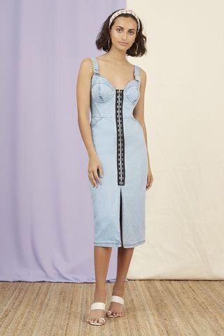 Finders keepers denim dress small/8 fashion bunker tuchuzy realisation par rat and & boa Bec bridge Zimmermann manning cartell