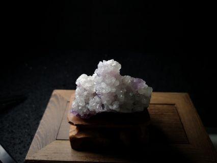 Crystal Mineral White Quartz on Fluorite 白水晶和莹石共生