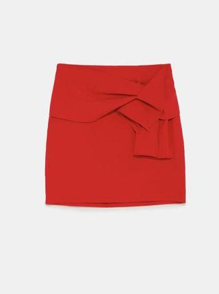 🚚 Zara Mini skirt with bow detail