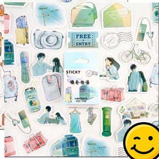 45pcs/Box Kawaii Deco jounal scrapbook Stickers Flakes