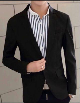 Man's Plain black blazers