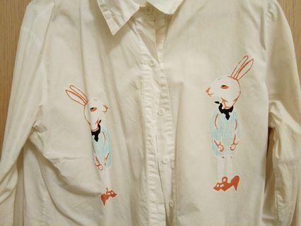 Bunny white long sleeve shirt