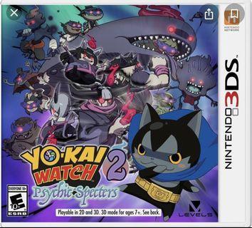 Yokai Watch 2 Pyshic Specters 3DS