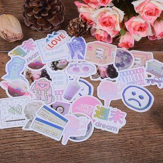 46pcs/Box Vaporwave Sticker Scrapbooking Deco Art  Seal Stationery journal korean Flakes