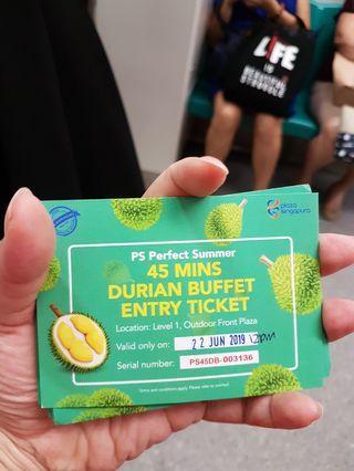 Plaza singapura durian buffet