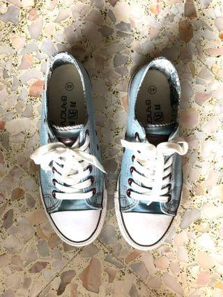 Light Blue Denim Sneakers