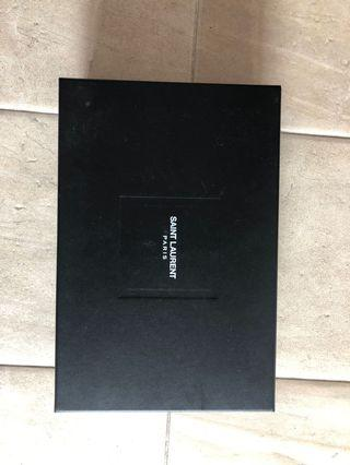 ysl box and paper
