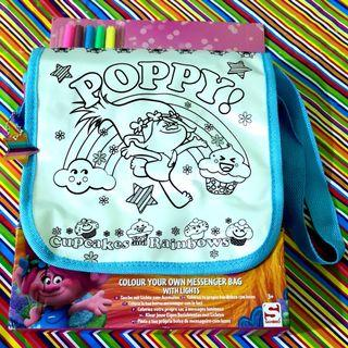 Poppy Trolls Color Your Own Messenger Bag with Lights