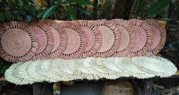 Native Raffia Placemats with Fringes