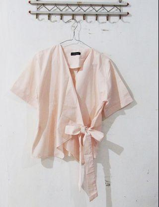 [PRELOVED] COTTON TREE - Pink Kimono Blouse