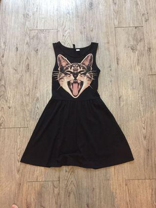 H&M Cat Skater Dress