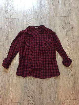 Terranova Flannel/Checkered Top (ladies)