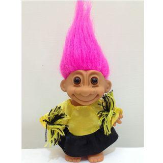 幸運小子(搔騷啦啦隊)醜娃、巨魔娃娃、醜妞、Troll Doll、魔髪精靈、魔法精靈、加油、啦啦隊服、加油團、鼓勵