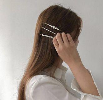Pearl Gold Hair Clip Barrette