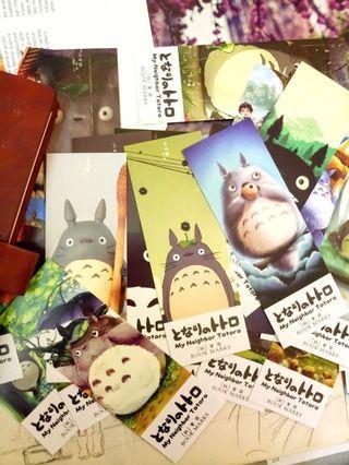 Ghibli Studio My Neighbor Totoro Bookmark Anime Miyazaki Hayao 5pcs