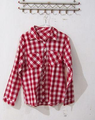 [PRELOVED] Red Checkered Top