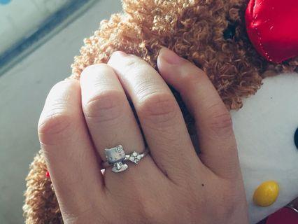 低過半價出讓 新淨絕版 周生生Hello Kitty 18K白金鑽石戒指 非周大福 六福