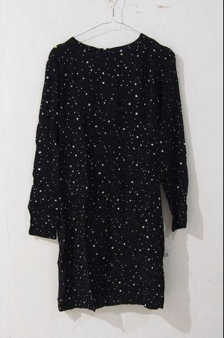 [PRELOVED] H&M Black Stars Dress