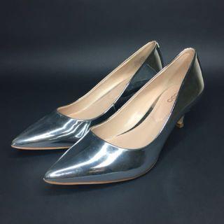 ALDO Silver Pointed Shoes #JuneToGo