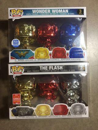 Funko Pop! DC Justice League Chrome Set