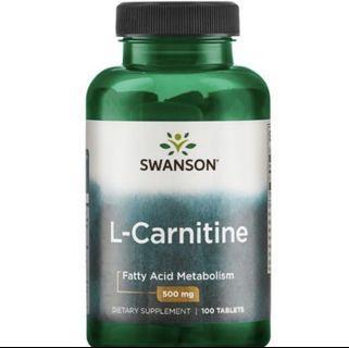 swanson l-carnitine 左旋肉堿 x2