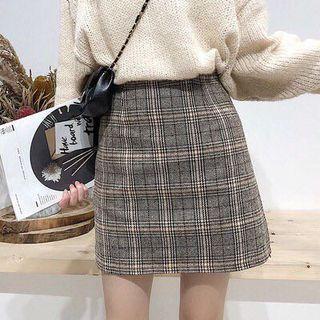 bnwt ulzzang grid plaid skirt