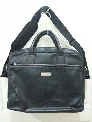 DUKAMOU時尚機能真皮手提側背包