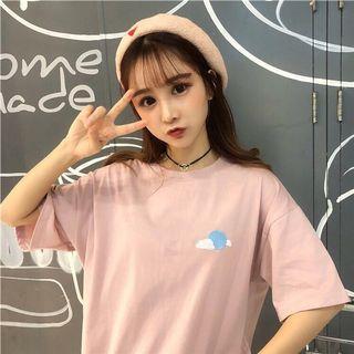 🚚 light pink oversized tshirt