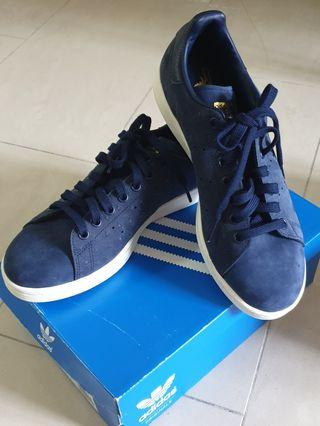Adidas Blue and Gold Stan Smith