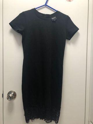 Amenpapa黑色修身連身裙