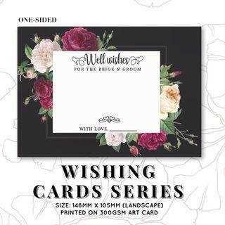 WEDDING WISHING CARDS