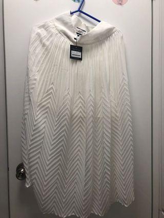 Amenpapa白色半身長裙