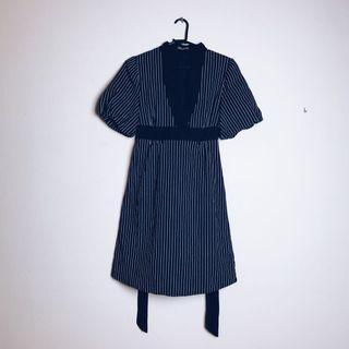 Stripe Black Dress