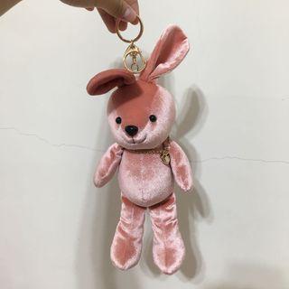 粉色小兔吊飾(大)