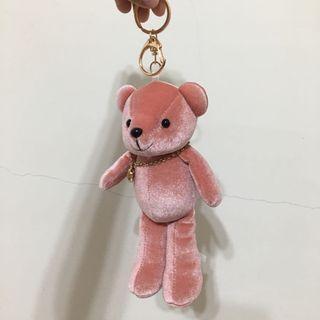 粉色小熊吊飾(中)