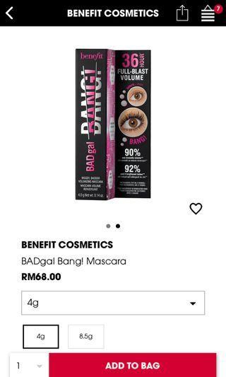 Benefit Mascara Bad Gal Bang