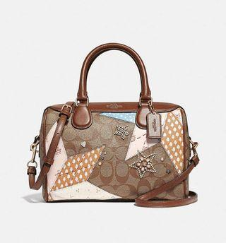 Coach mini bennet patchwork