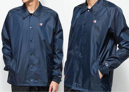 Champion Classic Oversized Coach Jacket in Navy Blue