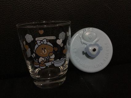 7-11Line friend X Lecreuset玻璃杯