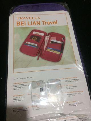 bag travel card and paspor