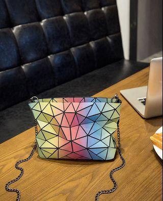 Little Raibow Sling Bag - FDW432  Size: 17*22*7cm  Design: as attach photo   Material: PU